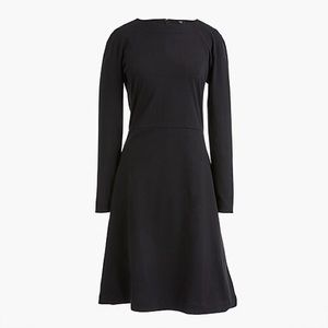 NWOT J. Crew 365 Knit Fit-and-Flare Dress Black